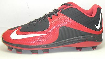 95348ee69a8 New Nike Air MVP Pro 2 MCS Baseball Cleats Size 12.5 Black Red White Molded
