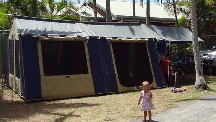 Oztrail Cabin Canvas Tent 12x15 & Oztrail Cabin Tent | Camping u0026 Hiking | Gumtree Australia Pine ...
