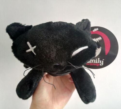 Emily the Strange 8 inch Stuffed Plush toy Black Cat new #02