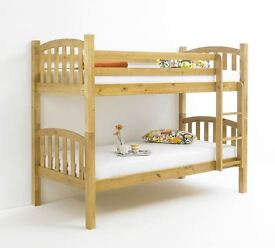 *** SPECIAL OFFER *** BRAND NEW AMERICAN SOLID PINE BUNK BED ON WHOLESALE PRICE