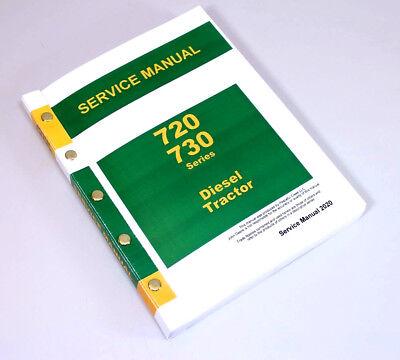 Service Manual For John Deere 720 730 Diesel Tractor Technical Repair Shop Book