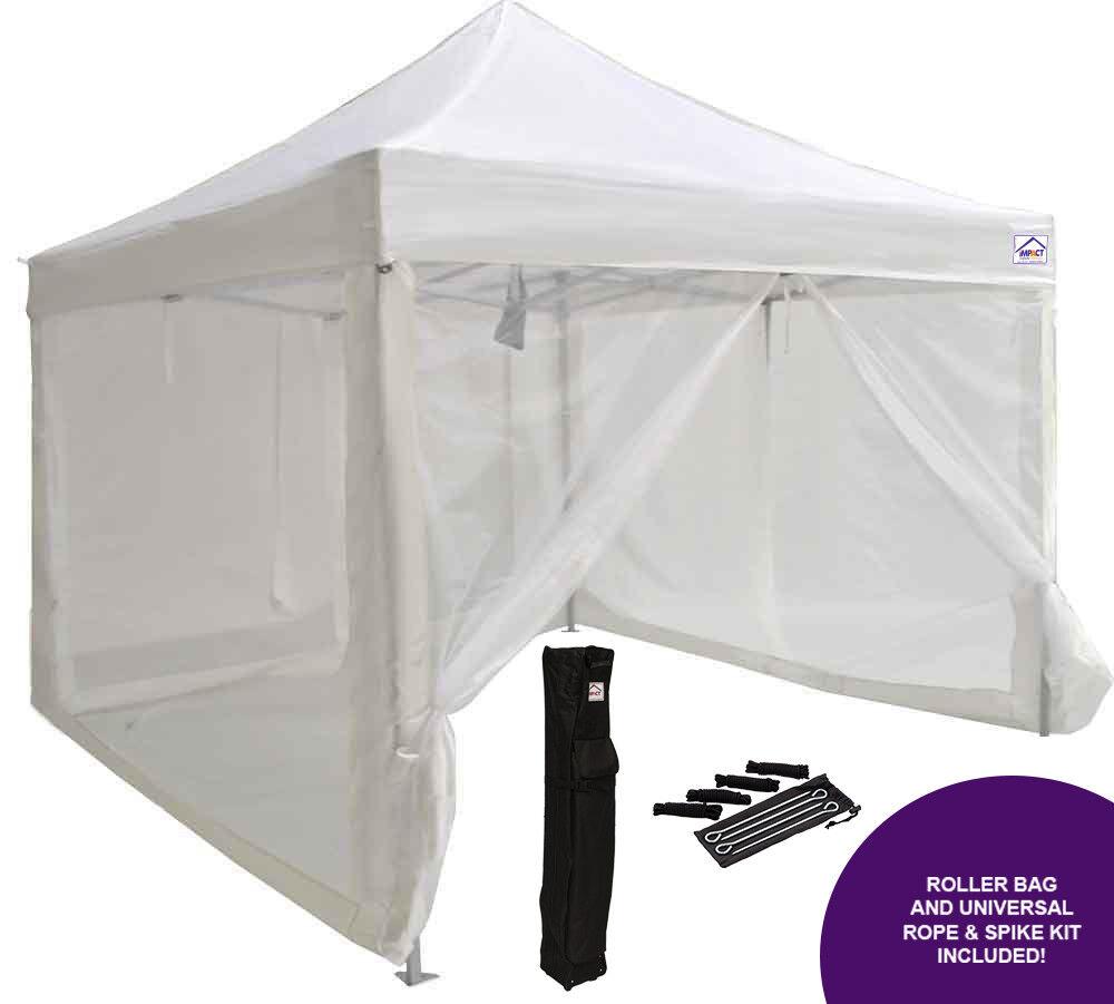 10x10 EZ Pop Up Canopy Tent Party Gazebo Mosquito Net Walls