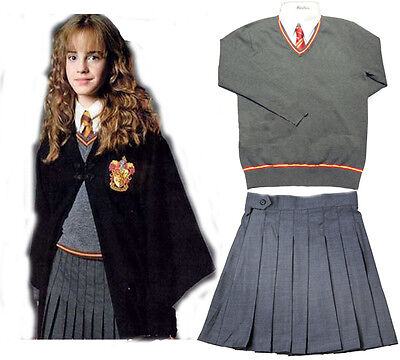 Gryffindor Hermione Jean Granger School Uniform Outfit Dress Cosplay Costume (Hermione Granger Outfits)