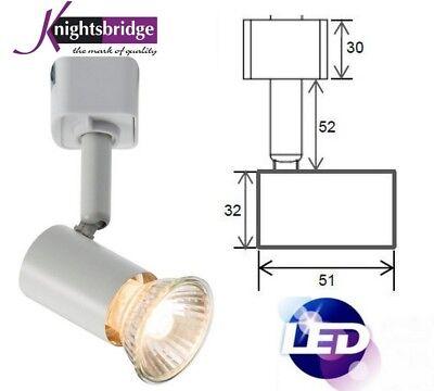 LED Cool White Mains flexible Single Circuit GU10 Fixture Track Rail Spot Light (Cw Led Track Fixture)