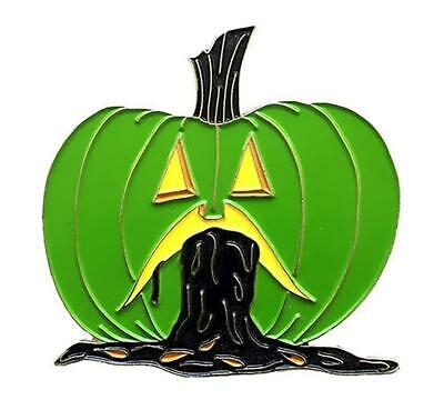 PUKING PUMPKIN V2 GID ENAMEL PIN BY - Puke Pumpkin