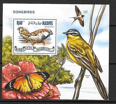 MALDIVE ISLANDS 2014 SONGBIRDS  MNH