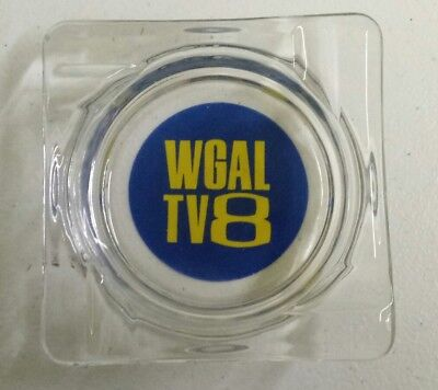 1970S Lancaster Pa Wgal Channel 8 News Glass Ashtray Approx 4  Diameter
