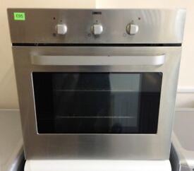 ZANUSSI - Silver (STAINLESS STEEL) 1 Door, INTEGRATED Electric Fan Oven