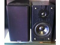 Pair of Fidek bookshelf speakers