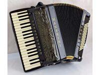 Manfrini Esperto 96 Gold Accordion - 37 / 96 - 4 Voice Double Cassotto - MIDI & Mics