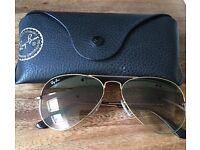 Ladies Rayban aviator sunglasses