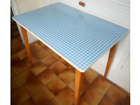 Retro Vintage Gingham Kitchen or Dining Table