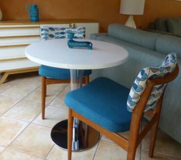 Restored mid century pair retro chairs