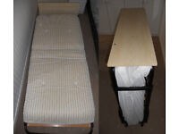 Single fold up guest bed with headboard excellent clean