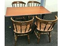 Pub shed furniture. Cast iron tables, stools, chairs, fridge
