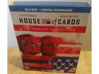 House Of Cards season 5 blu-ray + UV digital download code. Complete fifth series boxset