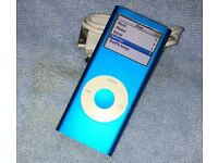 Apple iPod Mini 2nd gen, 4GB, electric blue. VGC