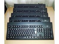 Job Lot of 10 x Wyse KU-8933 Black PS/2 Standard Keyboard UK QWERTY