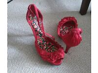 Red Shoes (heels) size 3 - Collection Brighton