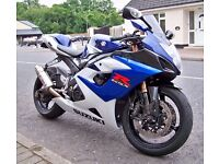 2005 Suzuki GSXR1000 K5 Very clean with a lot of extras included + original parts