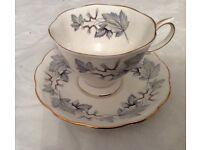 Royal Albert silver maple china cup and saucer