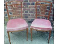 A SUPERB QUALITY, PAIR OF ELEGANT LATE 19TH CENTURY, BEECH WOOD CHAIRS