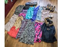 27 pcs Car boot Job lot clothes size 8-10, 2 x brand new shoes UK 5, 2 x bags and other accessories