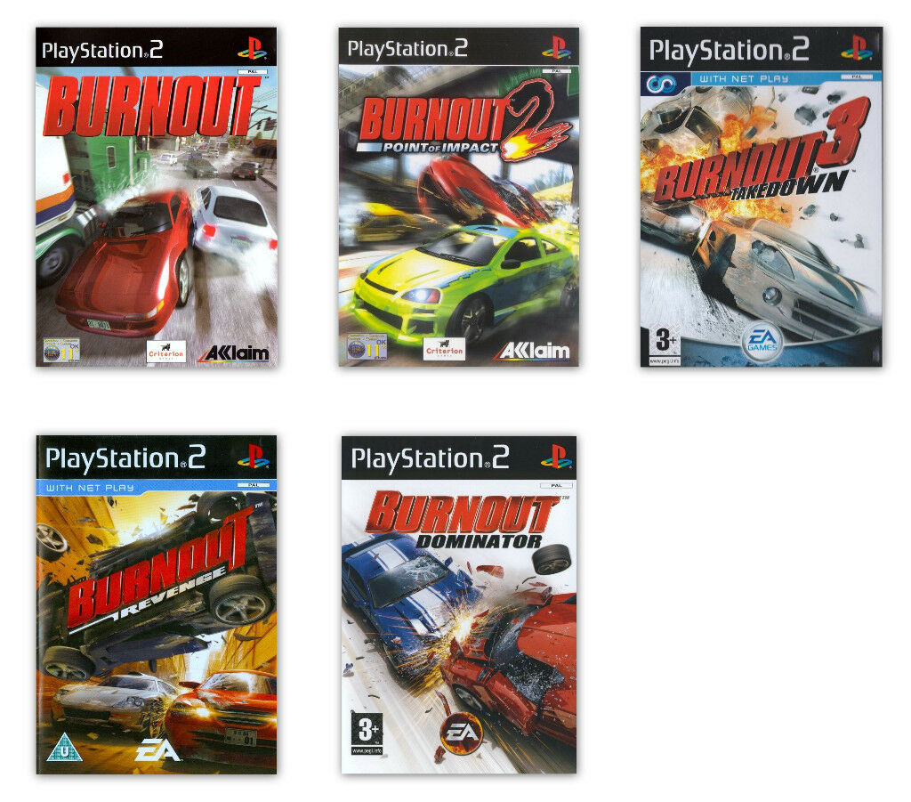 Burnout Games for Playstation 2 / PS2