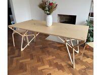 UNUSED - Stunning artisan designer dining table (birch plywood) - £450 instead of £582