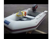 Seago 2.6 Dinghy/Tender/FishingBoat with Mercury Outboard