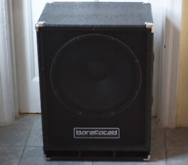 BAREFACED COMPACT 1x15 BASS Cab + Roqsolid cover. 600w 12Kg/26.45lbs 8 Ohm lightweight Cabinet