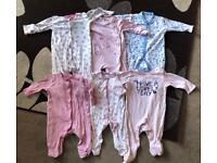 Baby Girls Sleepwear Bundle Age 6/9 Months