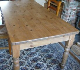 A good 6 ft. by 3ft. Solid Pine dining Table