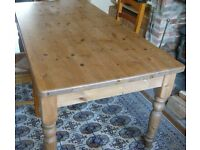 A good 6 ft. by 3ft. Solide Pine dining Table