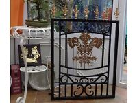 Garden Gate, hand built Three Feathers Welsh Rugby design.