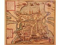 Antique Map of La Rochelle France