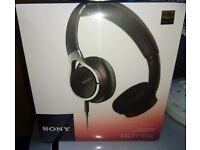 NEW - Sony MDR-10RC Stereo Headphones - Black