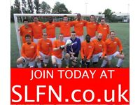 NEW PLAYERS WANTED FOR 11 ASIDE FOOTBALL TEAM, JOIN FOOTBALL TEAM LONDON. 11u2h3