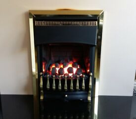 Valor Ultimate 3.5 Kw Slimline inset Gas Fire (Brass)