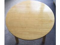 Kids all wood table and chairs as sold in John Lewis. Worn but good condition. £117 new.