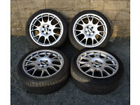"18"" BBS CH Style alloy wheels tyres 5x110 Vauxhall Astra Vectra Zafira"