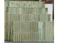 Fully tanalised fence panels