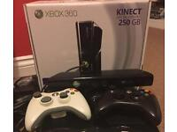 Xbox 360 with Kinect, 3 controllers and 34 games