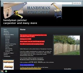 Handyman / painter / builder / carpenter business for sale in Coventry