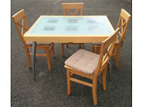 Caligaris Italian Extending table and 4 chairs. Made in Italy. Free delivery available