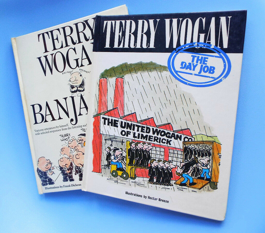 2 x Terry Wogan Autographed Books - one has Blankety Blank GROUP signatures! Just one bk sells £20