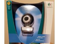 USB webcam by Logitech with headset included