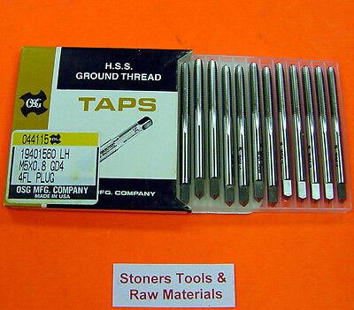 12 New 5mm X .8 M5x 0.8 Gd4 4 Flute Plug Left Hand Metric Osg Tap Usa 19401560