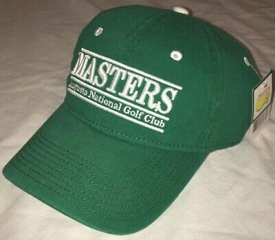Vtg NOS The Masters AUGUSTA NATIONAL GOLF CLUB Hat RARE CAP Spellout NEW Tags