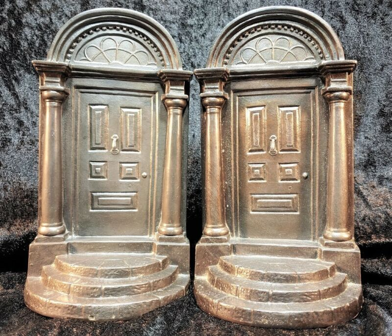 Georgian Entrance Door Bookends, Souvenir Building